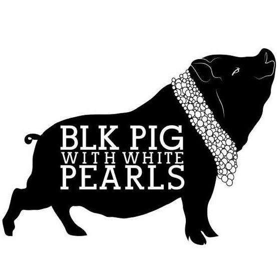 Black Pig With White Pearls