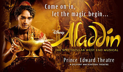 Aladdin, at Prince Edward Theatre in London from wednesday 17 october to thursday 28 february 2019. London. Nuitlife.com