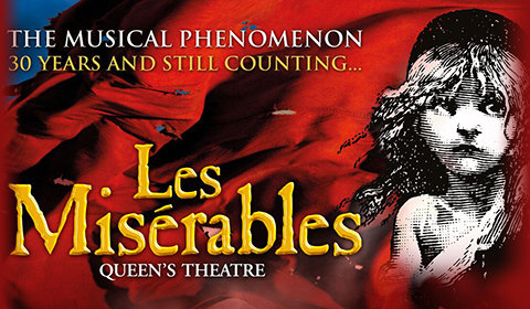 Les Misérables From Saturday 19 January to Saturday 13 July 2019 London