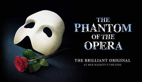 The Phantom of the Opera, at Her Majesty's Theatre in London from thursday 21 september to wednesday 31 january 2018. Opera-theatre. Nightlondon