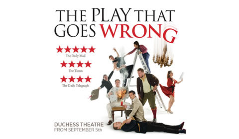 The Play That Goes Wrong, at Duchess Theatre in London from saturday 26 may to monday 31 december 2018. London. Nuitlife.com